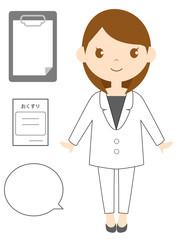医療関係の職場で働く女性
