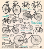 Fototapety Bike poster with french text