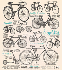 Bike poster with french text