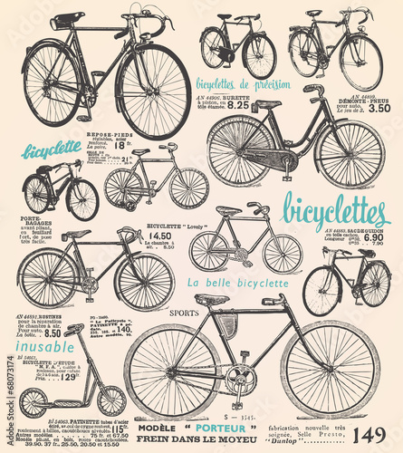 Bike poster with french text © lynea