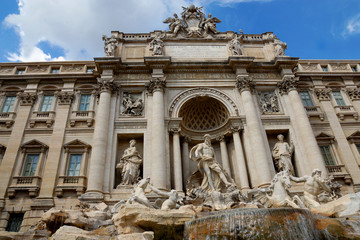 de Trevi Fountain in Rome, Italy