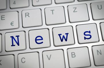 News auf Tastatur