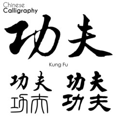 "Various kind of Chinese Calligraphy ""Kung Fu"""