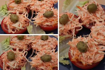 Tomates céleri rémoulade carottes râpées