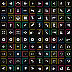 100 Arrows icons set.