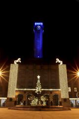 Ostrava city in the christmas night