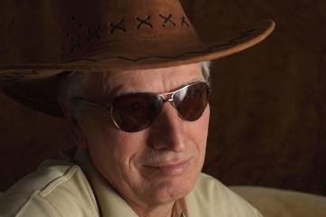 Mature man in cowboy hat