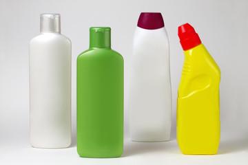 Bottles of plastic