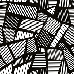 Abstract line textures seamless pattern, vector background.