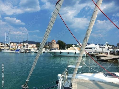 canvas print picture Hafen auf der griechischen Insel Aegina bei Athen