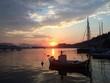 Obrazy na płótnie, fototapety, zdjęcia, fotoobrazy drukowane : Sonnenuntergang auf der griechischen Insel Poros