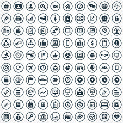 100 Business icons set.