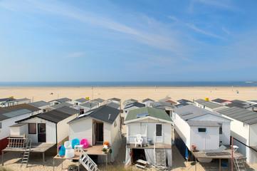 Beach huts in Holland