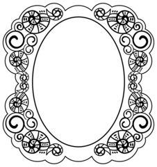 oval frame  with helices