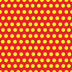 Seamless pattern with yellow circles