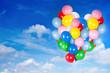 Leinwanddruck Bild - bunte Luftballons
