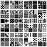 100 geometric seamless patterns set.