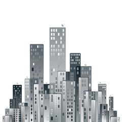 Modern city panorama vector illustration.