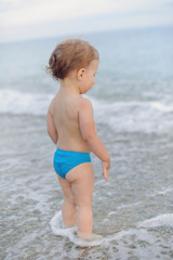 baby in Waves