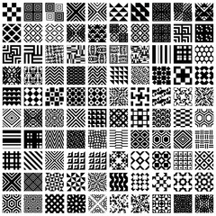 100 geometric seamless patterns set.
