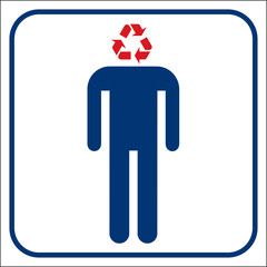 Recycling person, vector