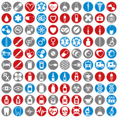 100 medical icons set.