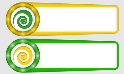 yellow and green frames for any text with spiral