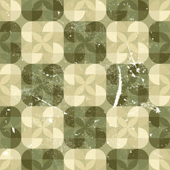 Geometric seamless tiles in retro style, vector.