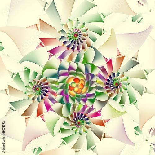 In de dag Spiraal Grüne Spiralen