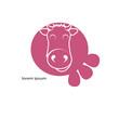 Pink vector cow
