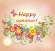 Summery greeting card