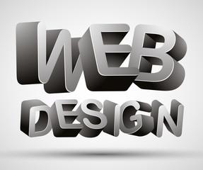 Web design lettering.