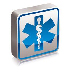 Ambulance medicine symbol.