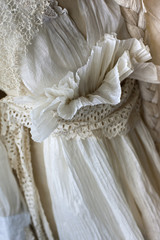Vintage dress of fabric and paper