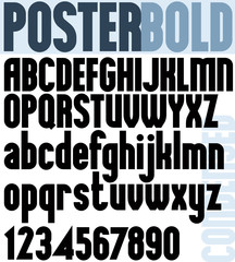 Poster Bold Classic style font.