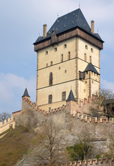 View of the Big Tower of castle Karlstejn