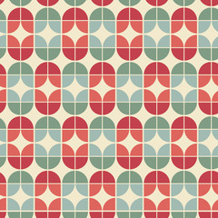 Seamless geometric tiles pattern in vintage style.