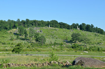 Little Round Top, located in Gettysburg Pennsylvania