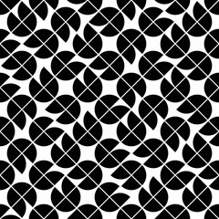 Seamless geometric tiles pattern in vintage style, vector abstra