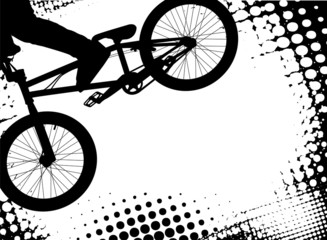 bmx halftone background with copy space - vector