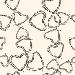 pattern of barbed hearts