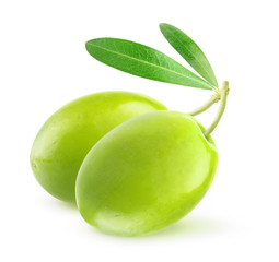 Two green olives