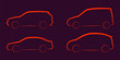 Abstract vector illustration car silhouettes