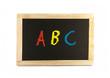 """Schultafel mit Buchstaben """"ABC"""""""