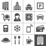 Fototapety Hotel icon set