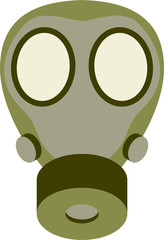 Abstract gas mask vector illustration