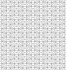 Black and white seamless pattern with line and circle