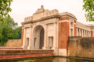 Ypres Menin gate memorial building world war one.