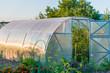 Leinwanddruck Bild - arched greenhouse