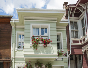 Traditional wooden turkish architecture
